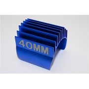 Aluminium Motor Heat Sink Mount 40mm For 1/10 05, 540, 360 Motor - 1Pc Blue
