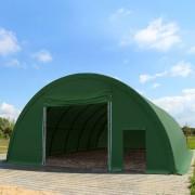 tendapro.it Capannone Tunnel 9,15m x 26m x 4,5m – arcate 1m - PVC 720g/m² verde scuro