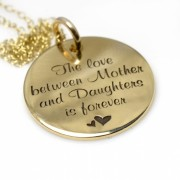 The love between Mother and Daughters is forever - Medium Munt Goud