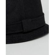 ASOS Narrow Brim Felt Hat In Black - Black