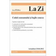 Codul consumului si legile conexe (actualizat la 25.04.2012). Cod 471