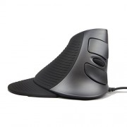J-Tech Digital ® Scroll Endurance Wired Mouse Ergonomic Vertical USB Mouse with Adjustable Sensitivity (600/1000/1600 DPI), Removable Palm Rest & Thumb Buttons - Reduces Hand/Wrist Pain (Wired)