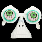 ELECTROPRIME Halloween Comedy Droopy Blood Eye Glasses Eyes on Springs with Nose Eye Mask