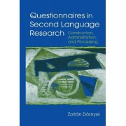 Questionnaires in Second Language Research by Zoltan Dornyei