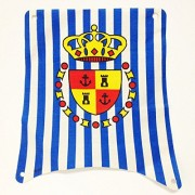 Lego Parts: Cloth Sail Main With Blue Stripes And Crown Shield Pattern (From Sets 6280 & 6291)