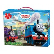 Thomas & Friends at The Airport Floor Puzzle in a Suitcase Box, 24-Piece by Ravensburger