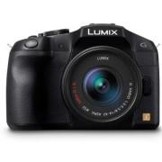 Aparat Foto Mirrorless Panasonic DMC-G6KEG-K, cu Obiectiv LUMIX G VARIO 14-42 mm, 16 MP, NFC, Wi-Fi (Negru)