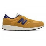 New Balance Men's 420 Re-Engineered Suede Yellow with Blue