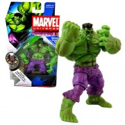 Hasbro Year 2008 Marvel Universe Series 1 Single Pack 4-1/2 Inch Tall Action Figure #13 - Green HULK with Bonus S.H.I.E.L.D File with Secret Code