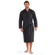 Мъжки халат Harvey Black Stripe
