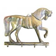 Porta Chaves Cavalo em Bronze