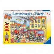 Puzzle Departamentul pompierilor, 100 piese, RAVENSBURGER Puzzle Copii