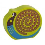 Oops BC-13008.13/IT Sveglio Suond Giocattolo di Legno, Lumaca Amichevole, Multicolore, 6+ Mesi