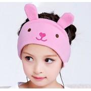 Kids Headphones - NEW RELEASE - Easy Adjustable Kids costume Headband Headphones - Super Comfortable Soft Fleece Headphones for Children, Perfect for Travel and Home - Little Bunny