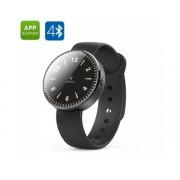 inWatch montre Smart Watch - Bluetooth 4.0, 12 LED, podomètre, moniteur de sommeil, Soutien iOS + Android (Noir)
