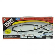 Elektr High Speed Train Toy Set With Flyovers Track, multi color