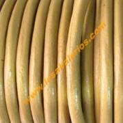 Cuero mostaza oscuro de 4 mm (precio por 20 cm)
