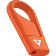 Stick USB 8GB Hook USB 2.0 D200 Portocaliu EMTEC
