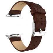 Hoco Bamboo Leather Band (Apple Watch 38 mm) - Svart
