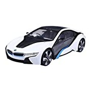 New York 1:14 Scale BMW I8 with Lights Remote Controlled Car (White)