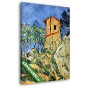Paul Cézanne: Ház a sziklán (20x25 cm, Vászonkép )