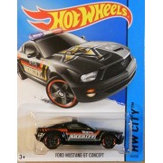 Hot Wheels, 2015 Hw City, Ford Mustang Gt Concept [Sheriff] Die Cast Vehicle #49/250
