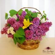 Cos cu flori de mai ( liliac, lalele, narcise ) CF015