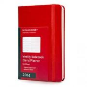 Brand: Moleskine Moleskine Red Pocket Weekly Notebook Diary / Planner 2014