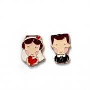 Generic Creative Household Wedding Gifts Boys And Girls Series Fridge Magnets(the bride and groom)