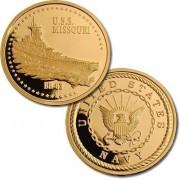 Uss Missouri Navy Merlin Gold