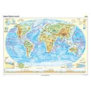 Harta fizică a lumii 100x70 cm