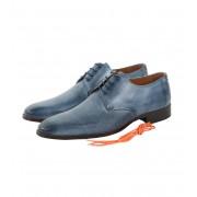 Leder Schuh Blau Tello - Blau 41