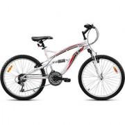 UT DSJ2 24T 18 Speed Junior Adult Cycle - White (17T Frame)
