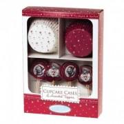 Me to You - Set pentru Briose, Christmas Cupcake Cases&Topper