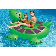 Swimline 90622 Swimming Pool Kids Inflatable Giant Rideable Turtle Float Toy 74