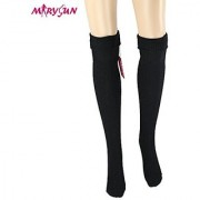 Women Girls Thigh High Socks Winter Over Knee Leg Warmer - Knit Crochet Socks