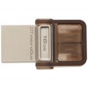 USB DRIVE, 16GB, KINGSTON Data Traveler DUO, OTG, USB3.0, Gold (DTDUO3/16GB)