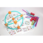 Build Geometric Shapes with Geometric Shape Blocks with Pattern Cards - Educational Toy or Learning
