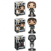 Funko Star Wars: POP! Rogue One - Jyn Erso Captain Cassian Andor K-2So Action Figure