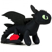 Dreamworks Dragons Action Dragon 8 Plush Toothless (with Additional Plush Spikes) Action Figure