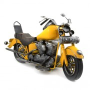 Macheta motocicleta metalica galbena