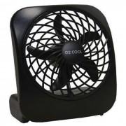 Ventilador Portátil De Mesa O2 Cool Pilhas Ou Fonte 3v 2283 PRETO