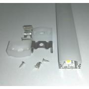 Alusín szett IP65 vízálló, tejes takaróval 8-10 mm-es led szalaghoz! 1m sín+1 m tejes takaró+ 2 db rögzítő+ 2 db végzáró. Life Light led