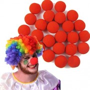 Deal Special Tm 25pcs Hot Red Sponge Circus Foam Clown Nose For Wedding Party Halloween Carnival Costume Activity