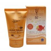 Crema fluida bio protectie solara pentru bebe si copii SPF50 Anthyllis 100ml