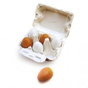 Eggs, Wooden Eggs in crate, Pretend Play Food