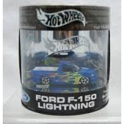 Hot Wheels Oil Can Truck Series Ford F 150 Lightning Blue