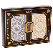 US Playing Card Co. KEM - Carte da poker Arrow Black e Gold Narrow, indice standard [importato dalla Germania]
