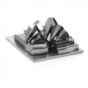 3D tridimensional DIY Asamblea Modelo Sydney Opera House - plata