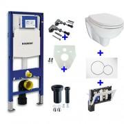Toiletset Hangend 320-1 Geberit UP320 Inbouwreservoir Glans Wit Wandcloset Softclose Toiletbril Sigma 01 Bedieningsplaat Wit